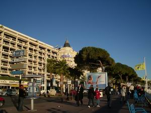 Strandpromenade in Cannes