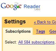 Screenshot Google Reader