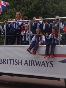 Paradewagen mit Ellie Simmonds